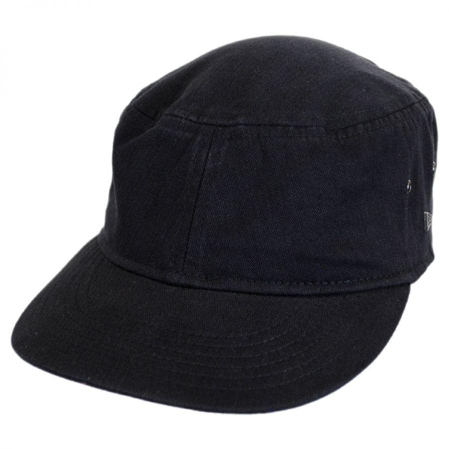 1cc4680f Packable Cotton Military Cadet Strapback Cap