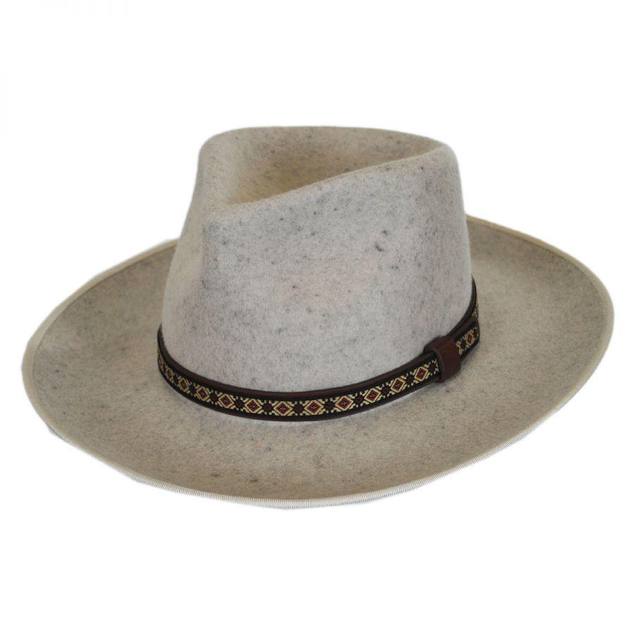 ... Brooklyn Hat Co Alpes Wool Felt Wide Brim Fedora Hat Crushable best  wholesaler 26c51 b06b7 ... a1ba59c8579
