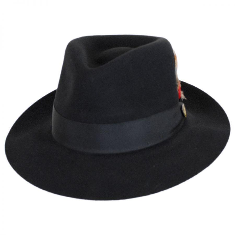 Prescott Fur and Wool Felt Fedora Hat alternate view 1 54a98c4fafe