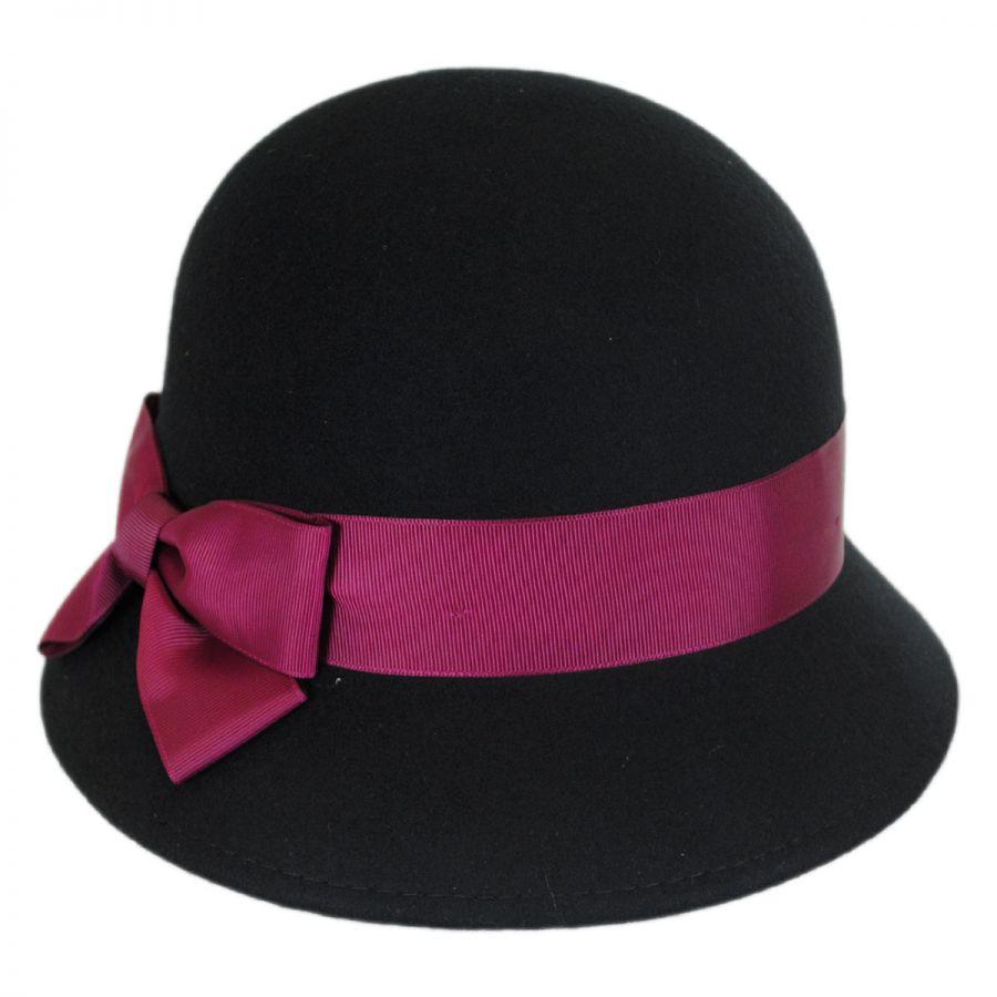 Betmar Emma Wool Felt Cloche Hat Cloche & Flapper Hats