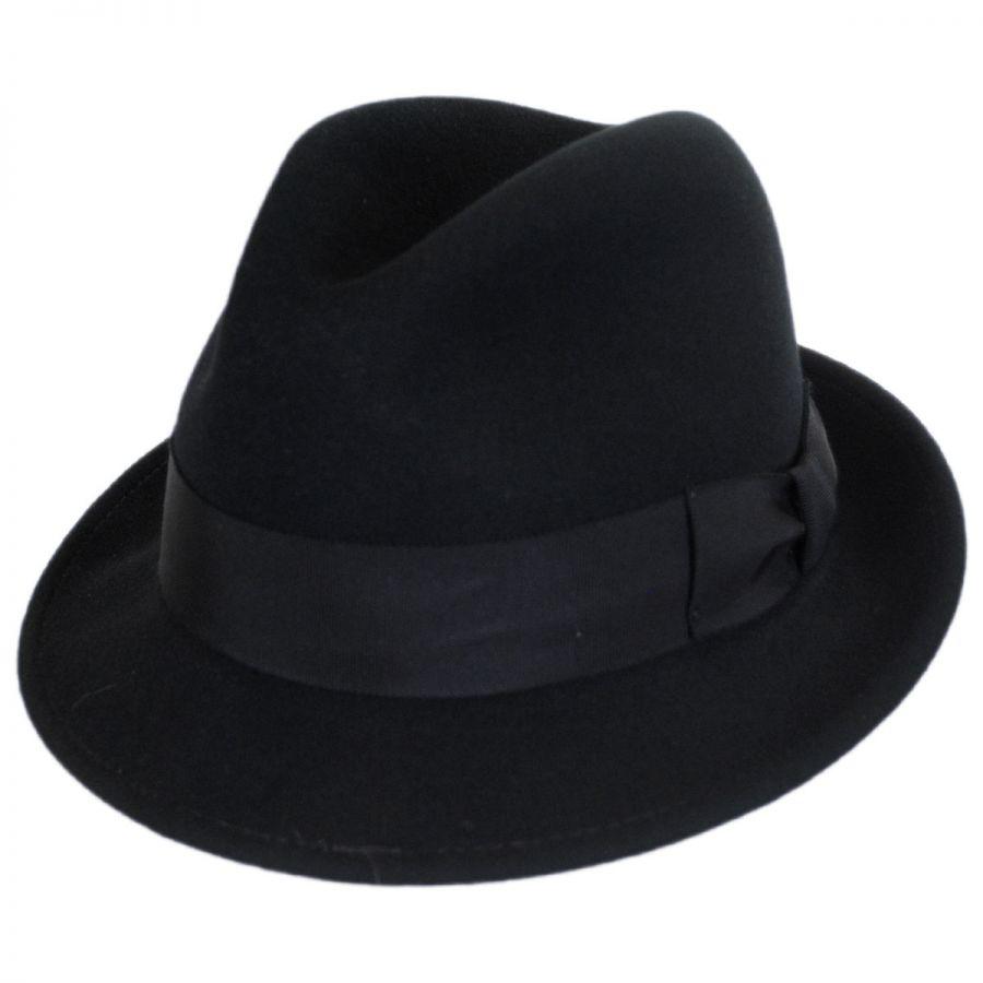 ec5e8a2689e3ed Bailey Craven Earflap Wool LiteFelt Trilby Fedora Hat Stingy Brim ...