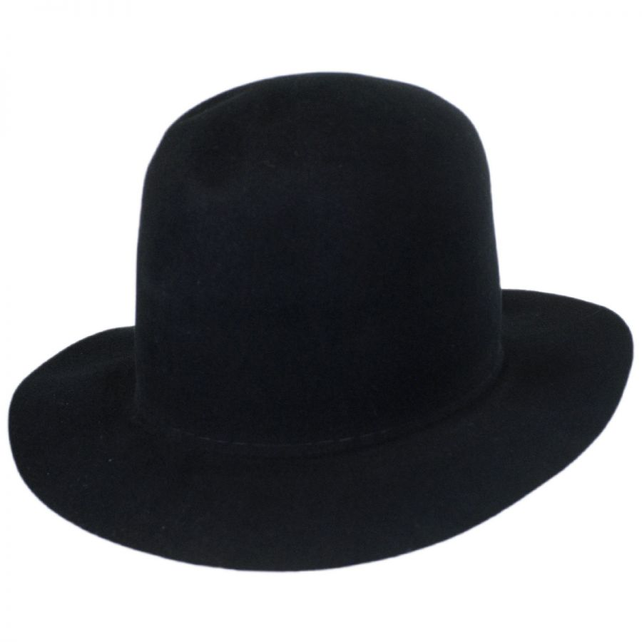 Bailey Briles Wool Felt Open Crown Fedora Hat Crushable 9ee2e3130487