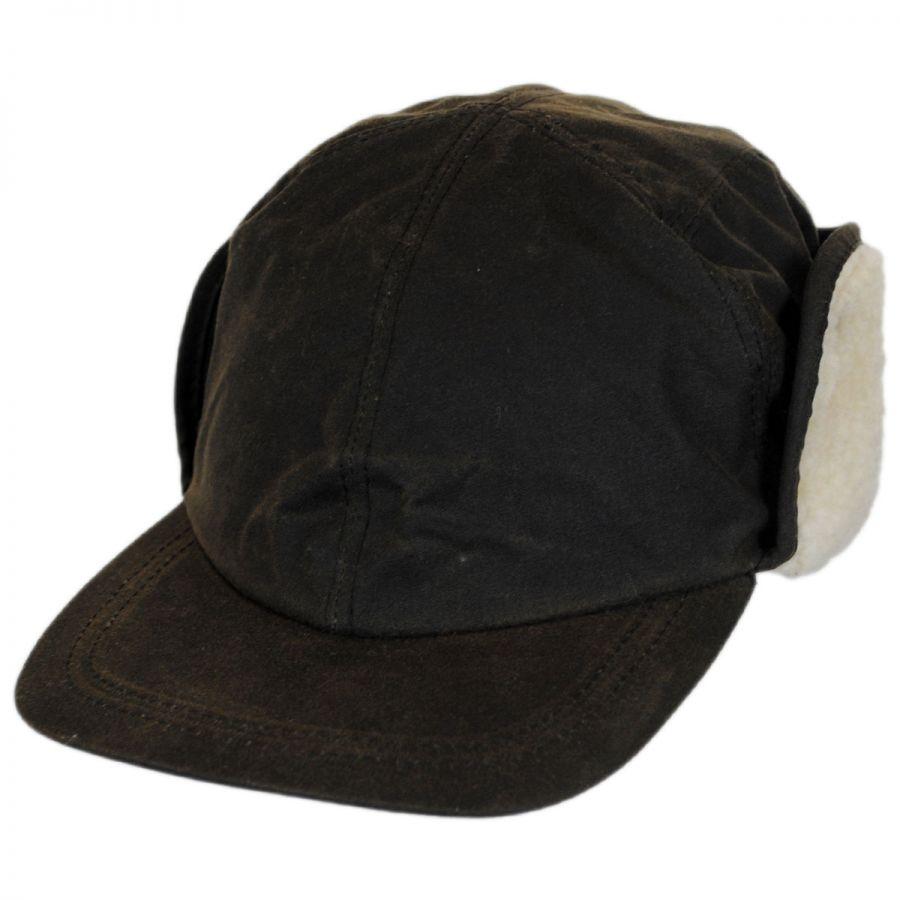 Woolrich Waxed Cotton Earflap Cap Rain Hats f7272d781dc