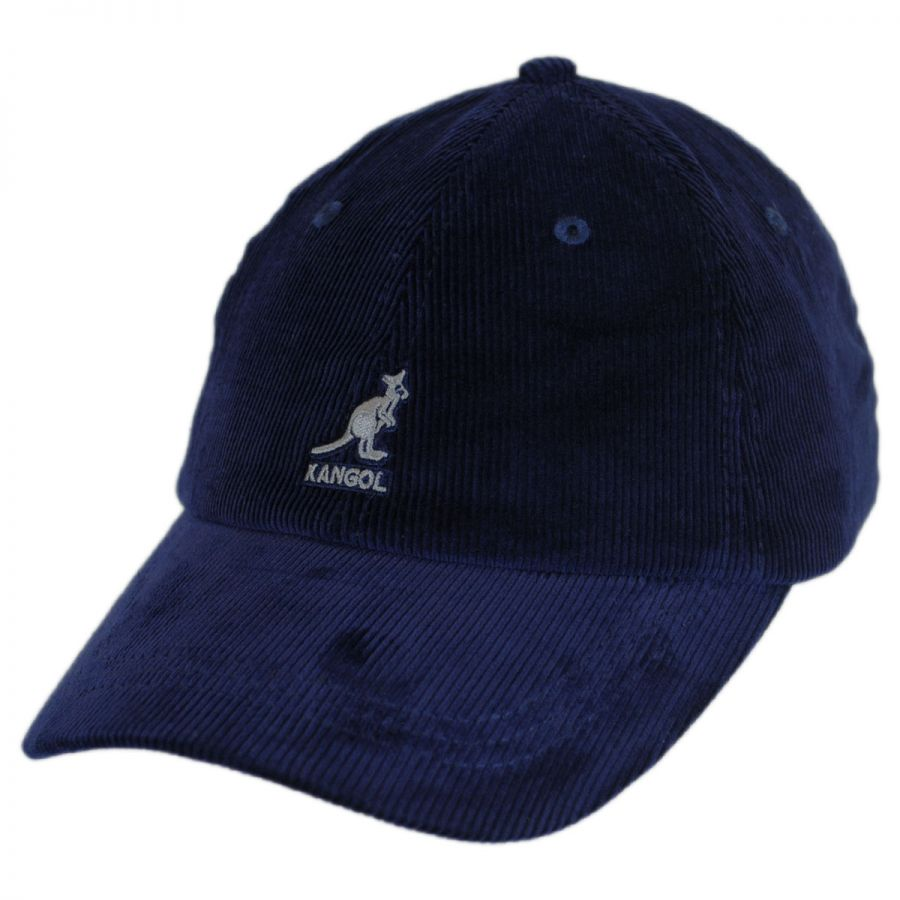 904e59be447793 Kangol Logo Corduroy Strapback Baseball Cap Dad Hat All Baseball Caps
