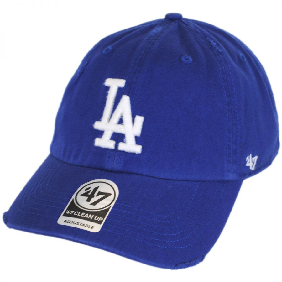 374469fcbf4cd 47 Brand Los Angeles Dodgers MLB Ridge Clean Up Strapback Baseball Cap Dad  Hat