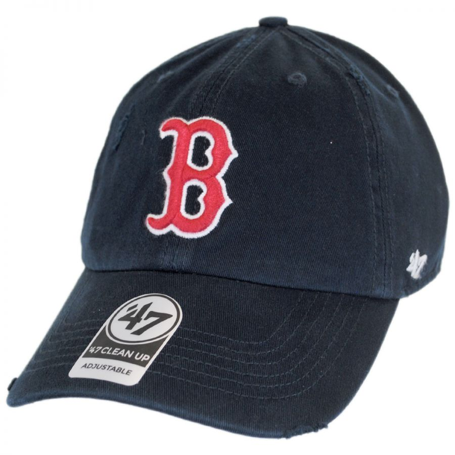 7de39a54b7ed6 47 Brand Boston Red Sox MLB Ridge Clean Up Strapback Baseball Cap Dad Hat