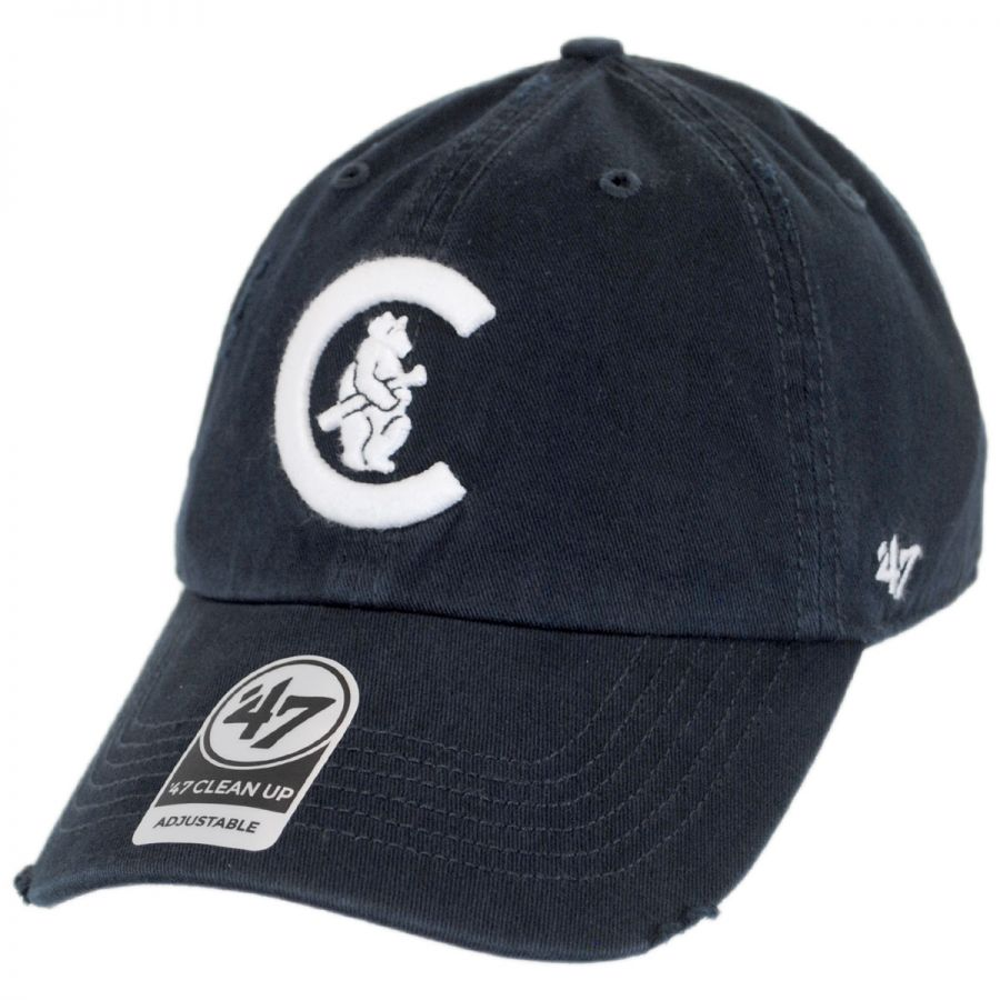 ea20e8f872986 47 Brand Chicago Cubs MLB Cooperstown Ridge Clean Up Strapback Baseball Cap  Dad Hat