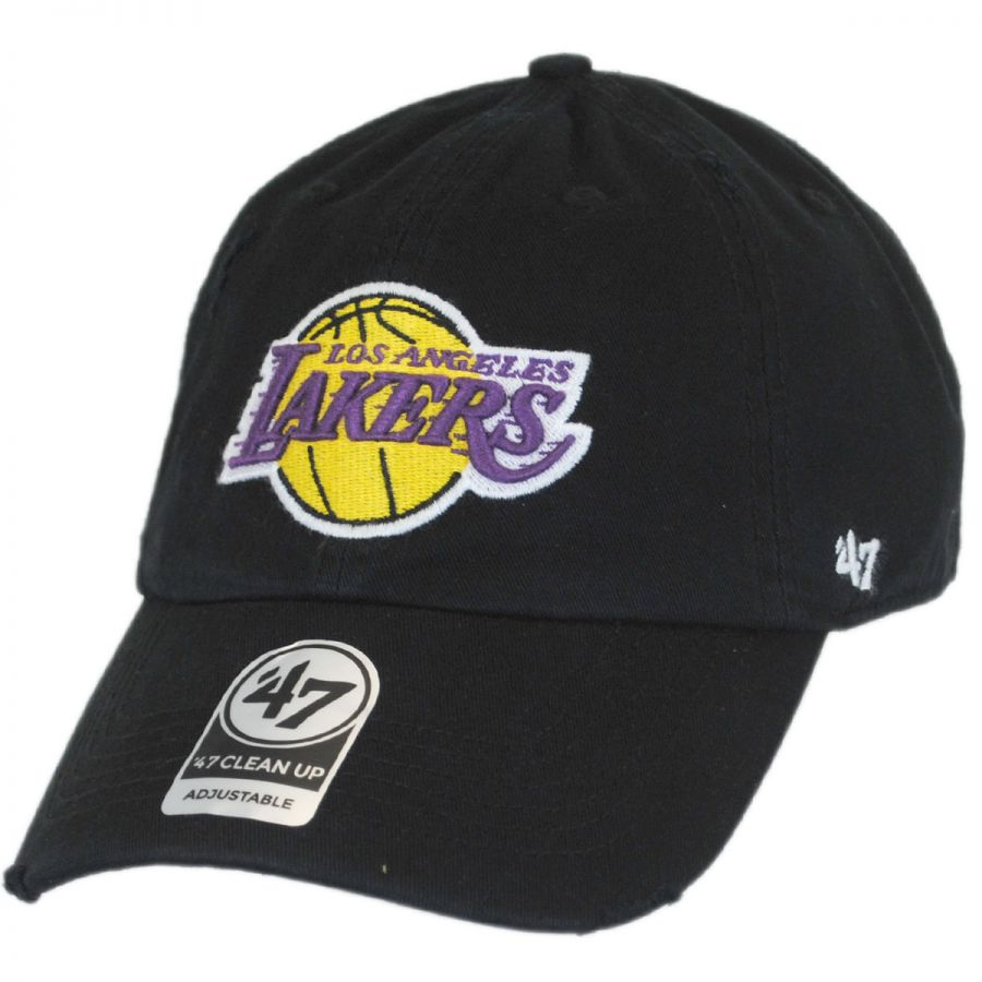 d07999e253260 47 Brand Los Angeles Lakers NBA Ridge Clean Up Strapback Baseball Cap Dad  Hat