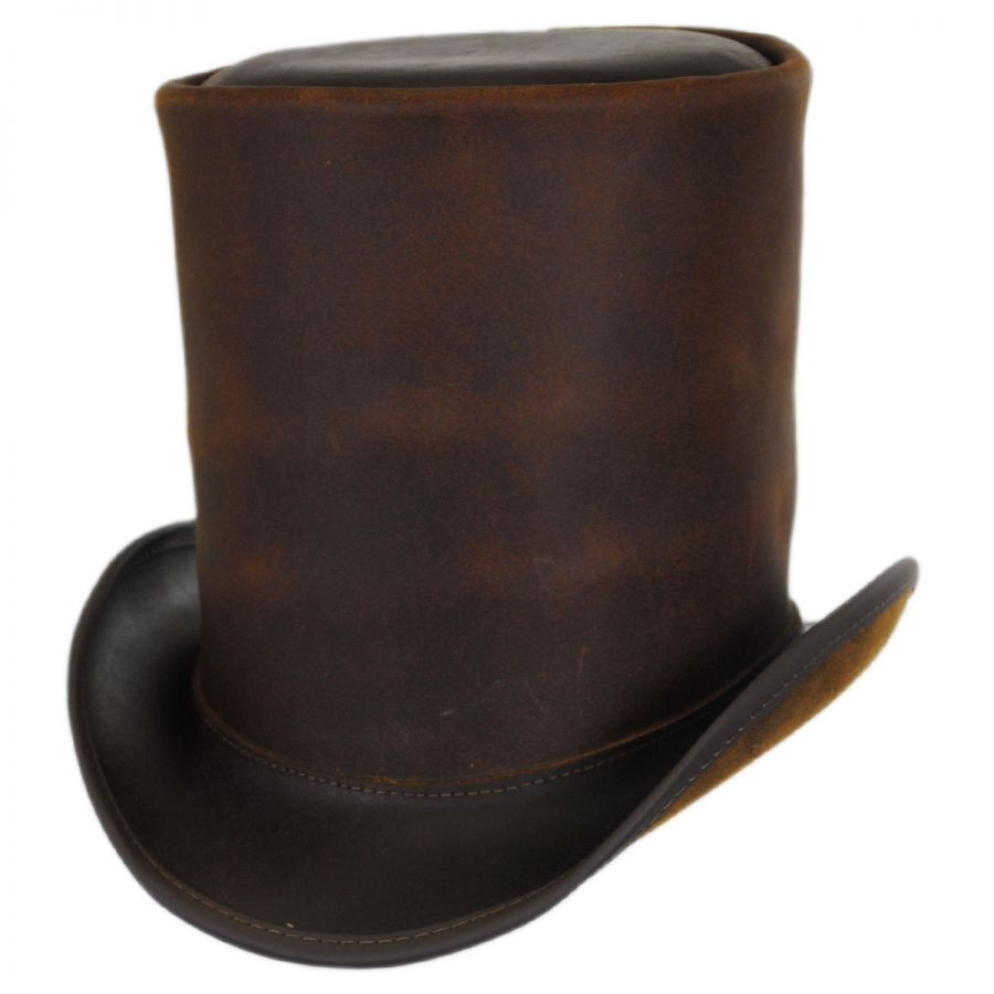 Head  N Home The Butcher Leather Stovepipe Top Hat Top Hats c69175a4b7