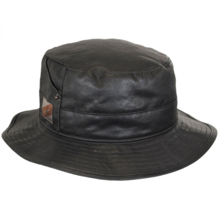 Kangol Utility Waxed Cotton Bucket Hat Bucket Hats