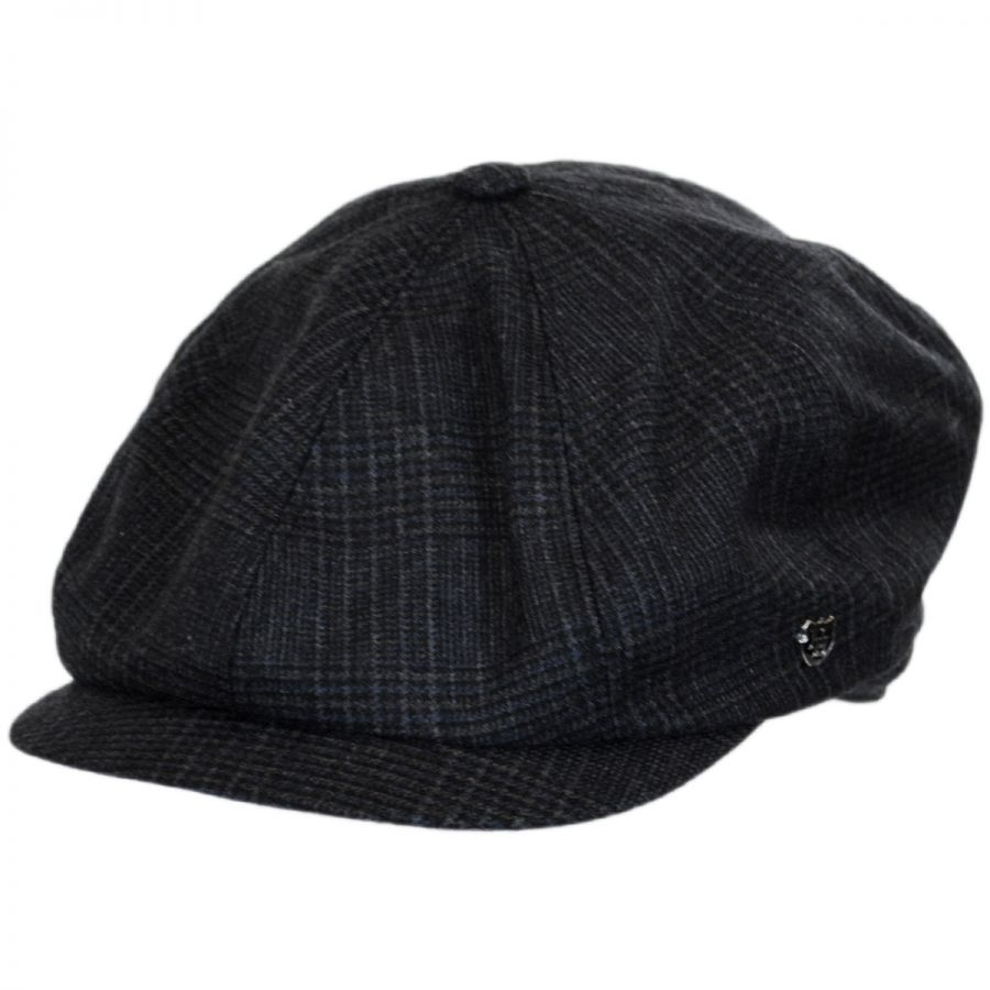 0e65fc4c755 Hills Hats of New Zealand Windsor Check English Tweed Wool Newsboy ...