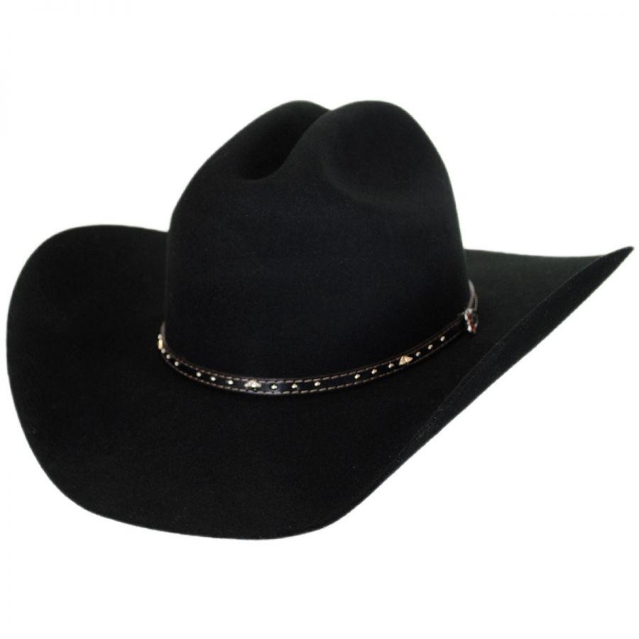 25fa9222d86 Justin Hats Black Hills 2X Wool Felt Cattleman Western Hat Western Hats