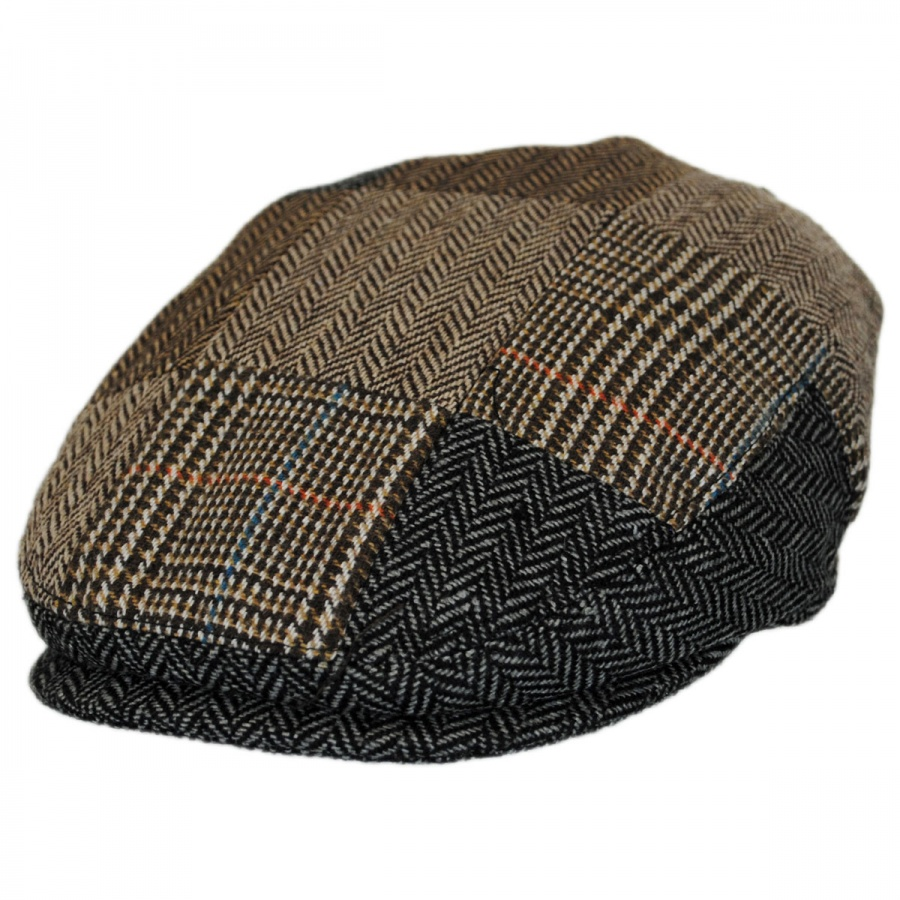 Jaxon Hats Kids Herringbone Patchwork Ivy Cap Kids Flat Caps