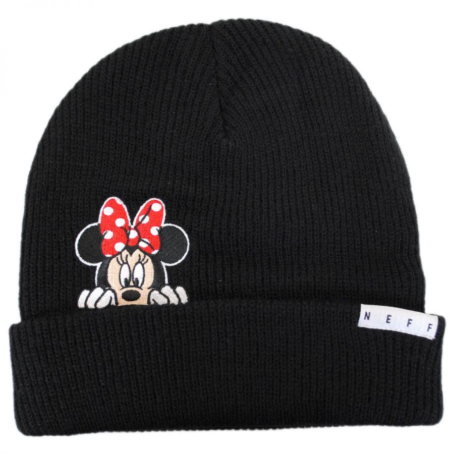 Disney Minnie Peek Knit Cuff Beanie Hat Beanies e3db3635c277