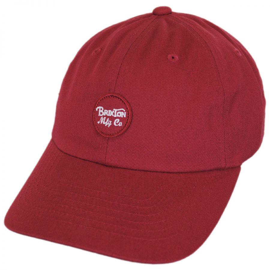 ae469916a5c Brixton Hats Wheeler LoPro Strapback Baseball Cap Dad Hat All ...