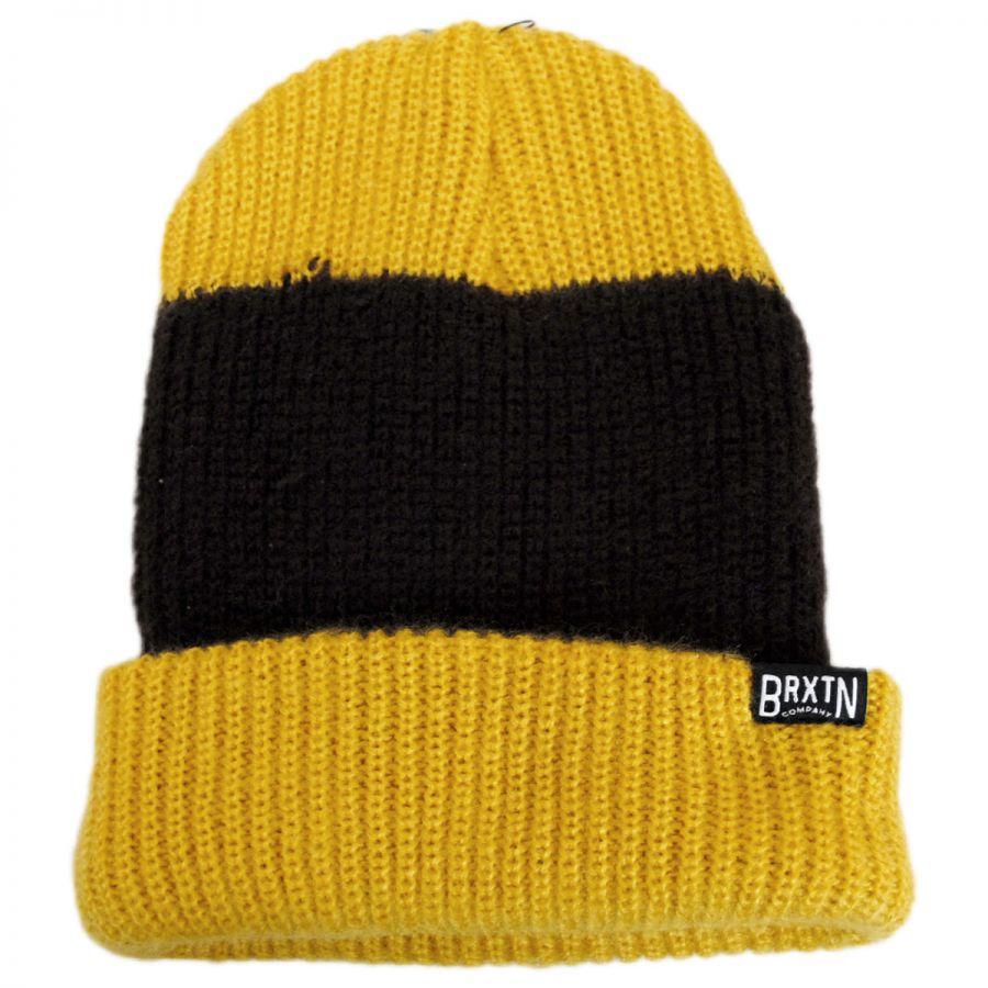 450adb2671b Brixton Hats Langley Stripe Knit Beanie Hat Beanies