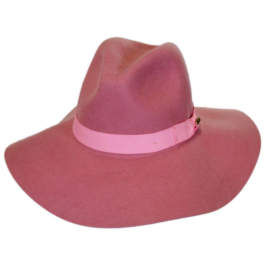 San Diego Hat Company Joanne Wide Brim Wool Felt Fedora Hat Fedoras 48c8e6c7a97