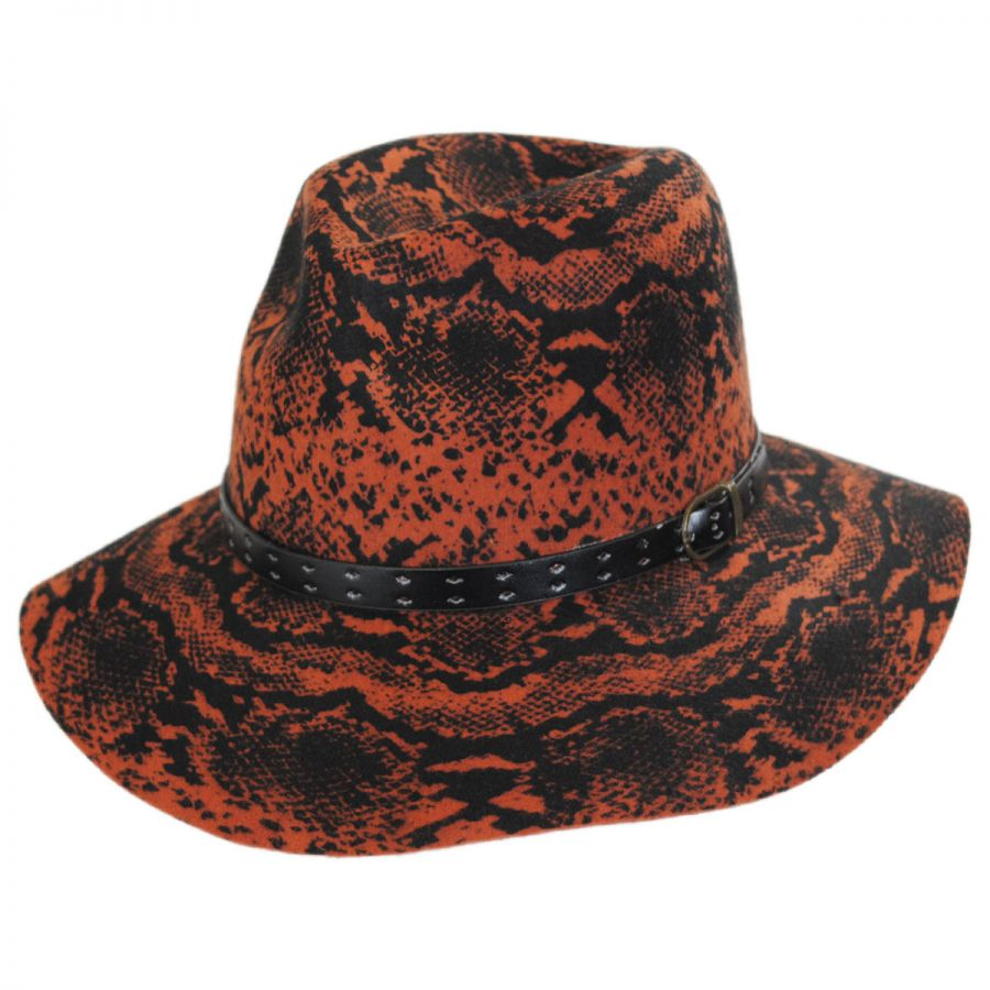 Something Special Python Wool Felt Fedora Hat Fedoras a801e83bf55