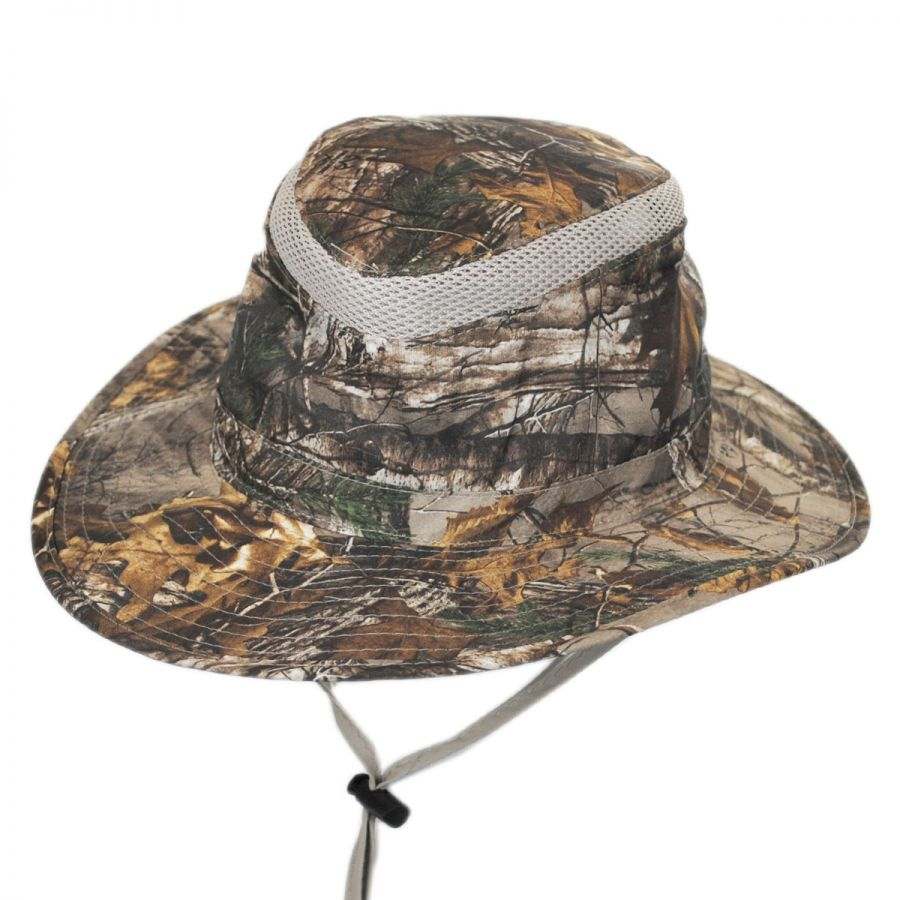 0c04869cad1 Stetson NFZ Camo Sun Shield Safari Fedora Hat Sun Protection