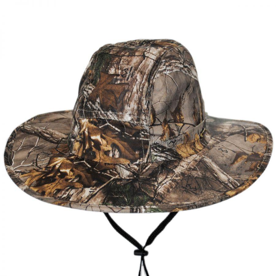 be2ad884411 Stetson NFZ Camo Big Brim Boonie Hat Sun Protection