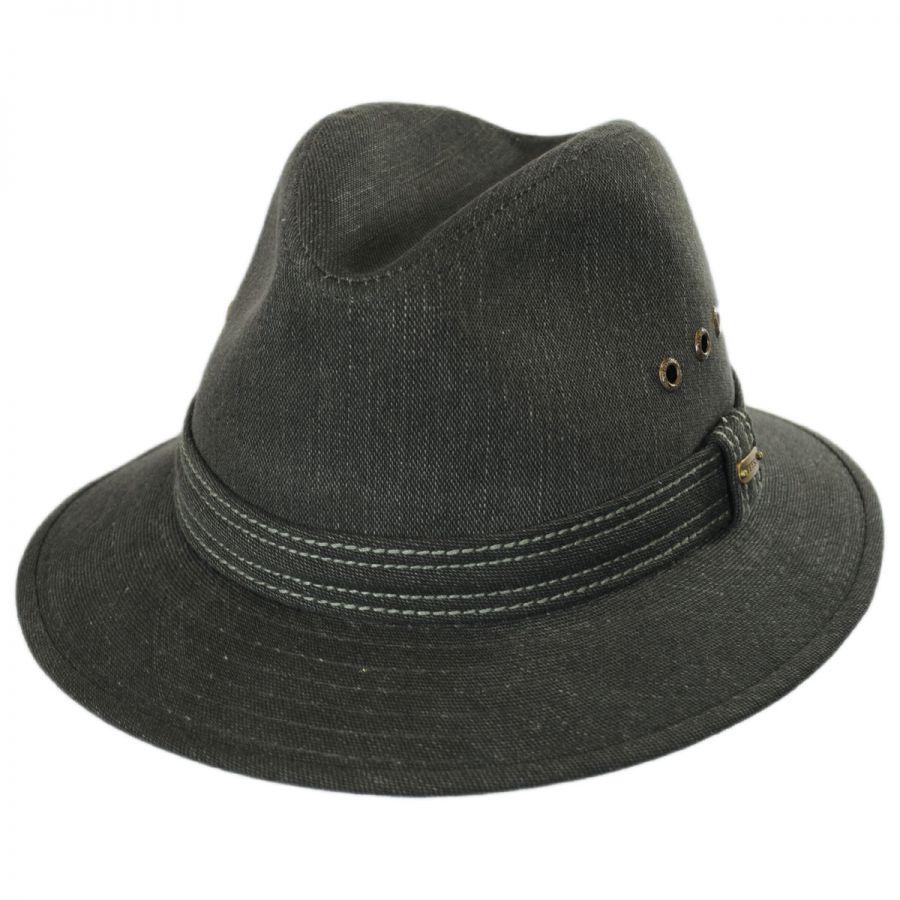 2492e8a13cd15f Cotton Canvas Safari Fedora Hat alternate view 1