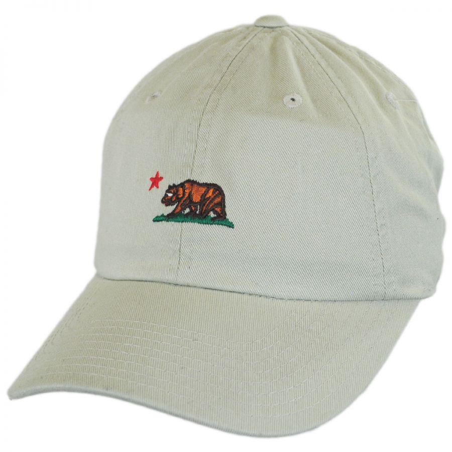 American Needle Micro Cali Bear Strapback Baseball Cap Dad Hat All ... 91583bf581d