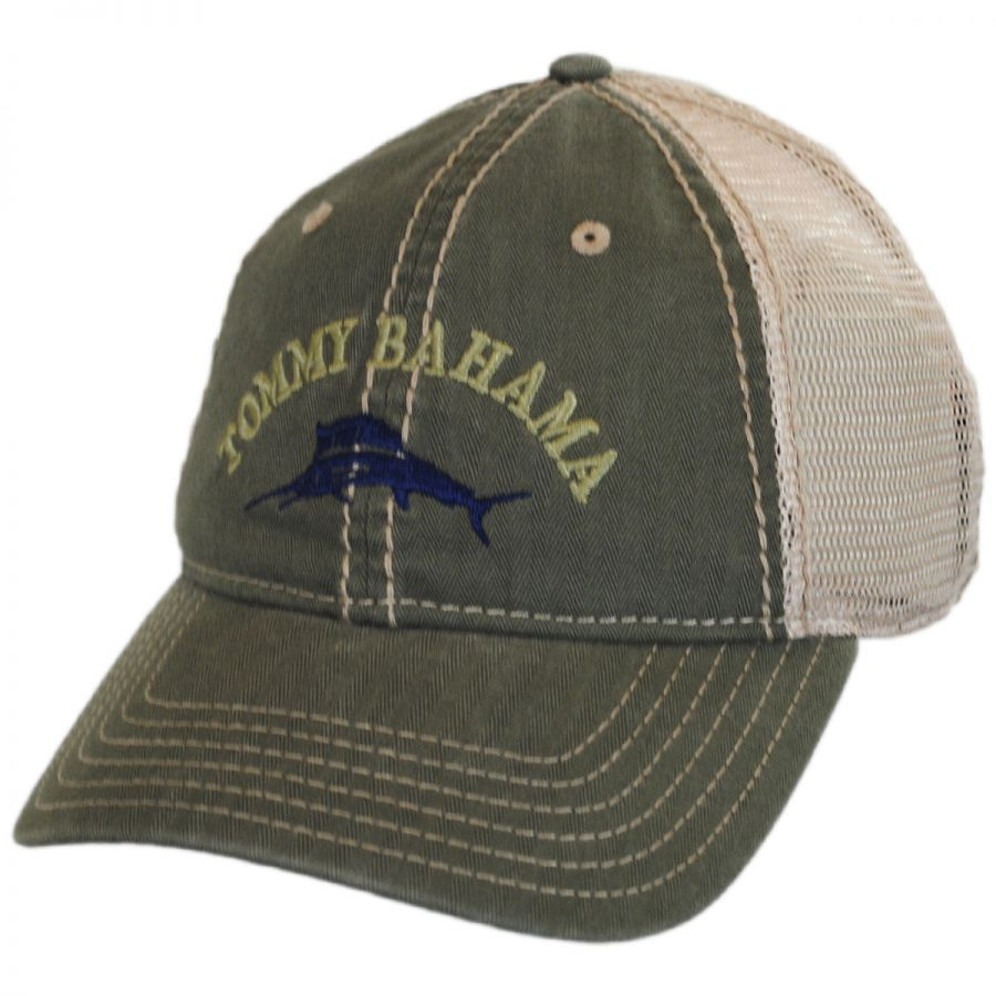 Tommy Bahama Classic Mesh Trucker Strapback Baseball Cap Dad Hat All ... cd86e48a558