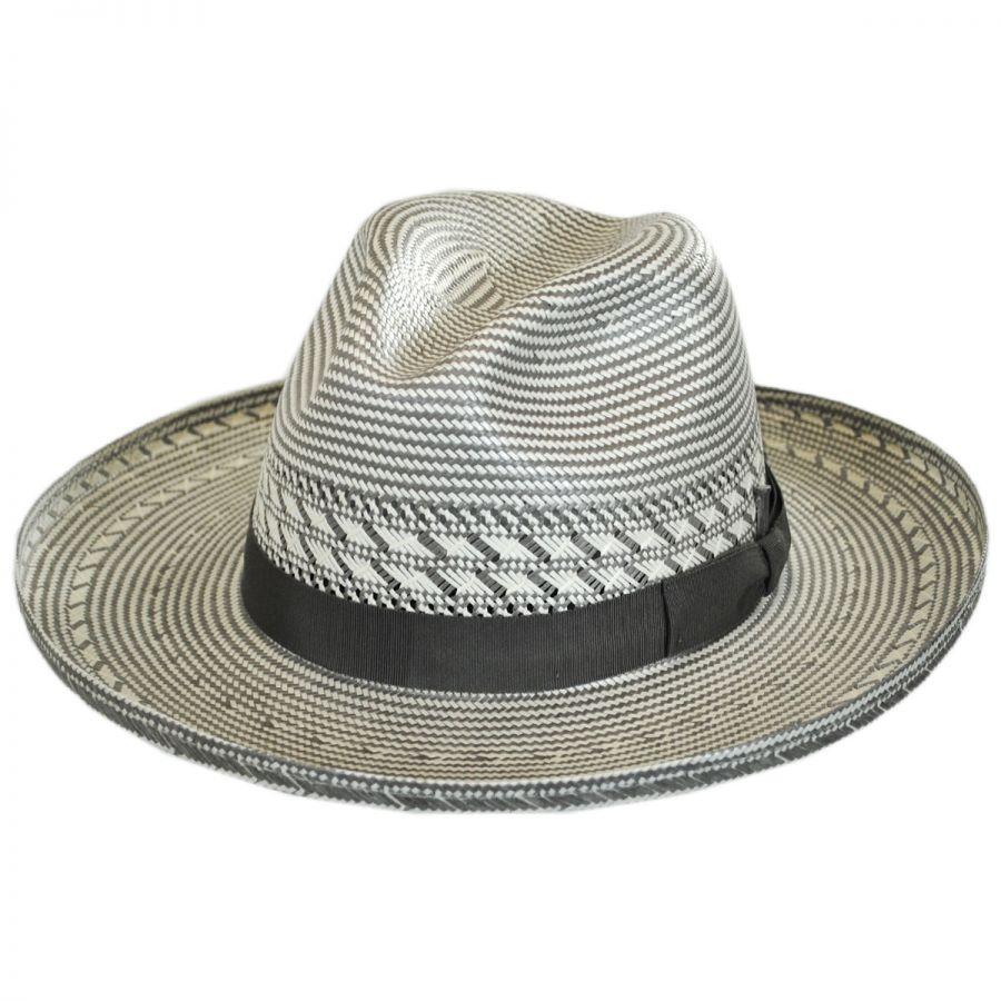 Bailey Gravely Straw Wide Brim Fedora Hat Straw Fedoras 887811fff3e