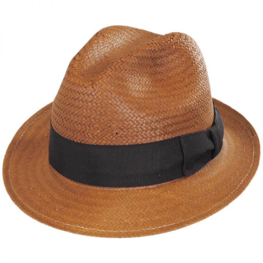 6c09edac8f35e Bailey Lando Toyo LiteStraw Fedora Hat Stingy Brim   Trilby