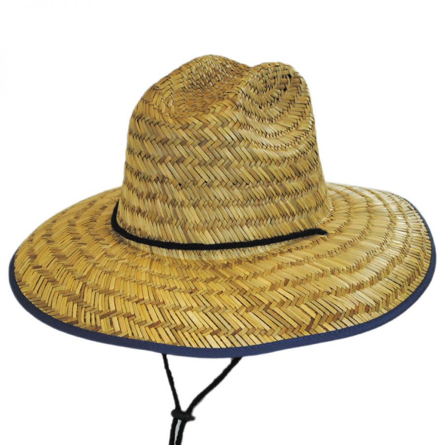 3b97b59d50317 Dorfman Pacific Company USA Flag Underbrim Lifeguard Hat Straw Hats