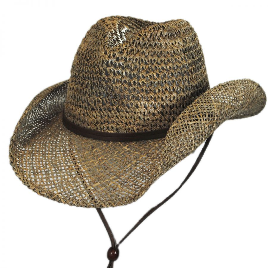 80918b9d904 Dorfman Pacific Company Seagrass Straw Chincord Western Hat Western Hats