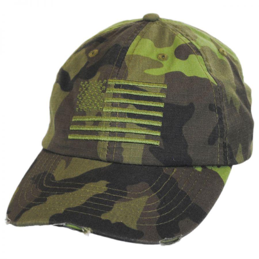 ddb50baad50dd Dorfman Pacific Company US Flag Camo Strapback Baseball Cap Dad Hat ...