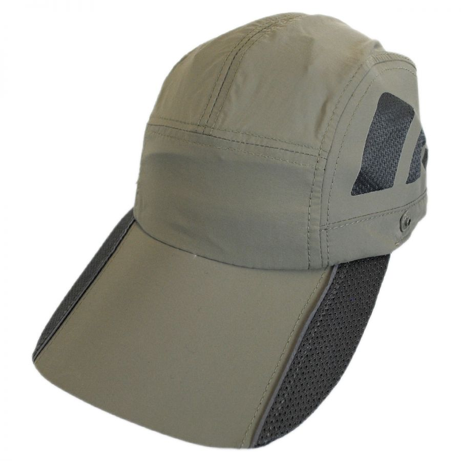 Dorfman Pacific Company Fishing Supplex Flap Baseball Cap Blank ... bc5af67c134
