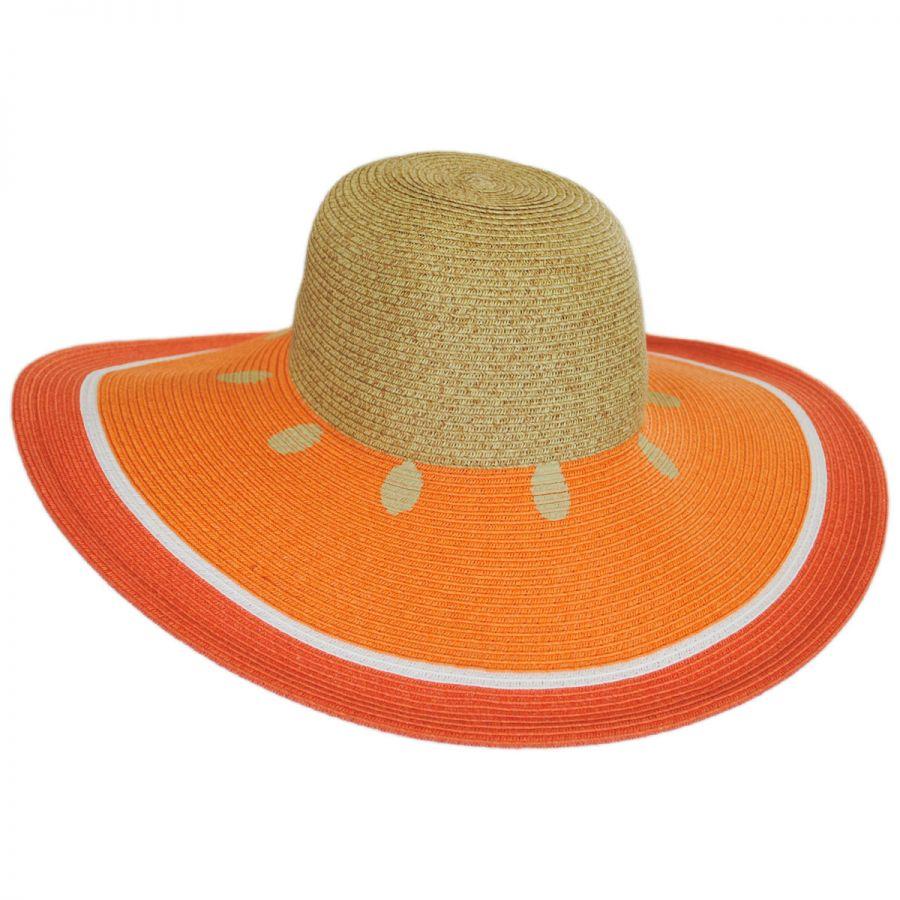 e7cb755fe96e7 San Diego Hat Company Orange Toyo Straw Sun Hat Sun Hats