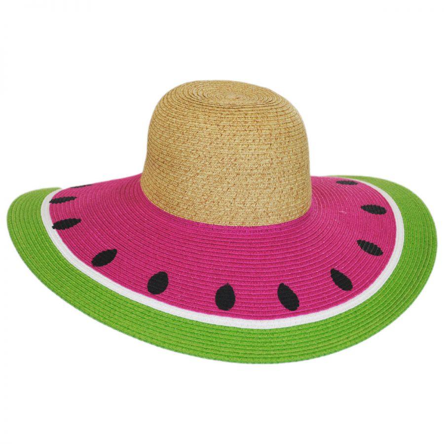 San Diego Hat Company Watermelon Toyo Straw Sun Hat Sun Hats 4aed64cf84b