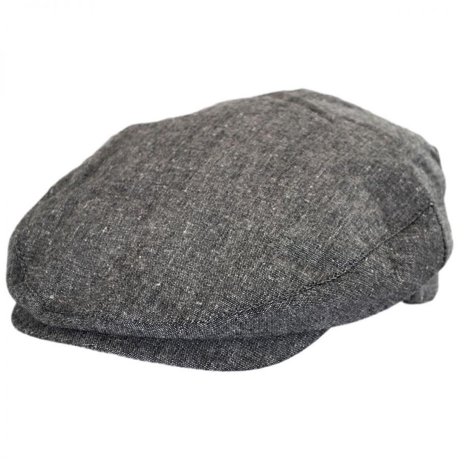 e8d1e5fab6d1 Brixton Hats Hooligan Linen and Cotton Solid Ivy Cap Ivy Caps