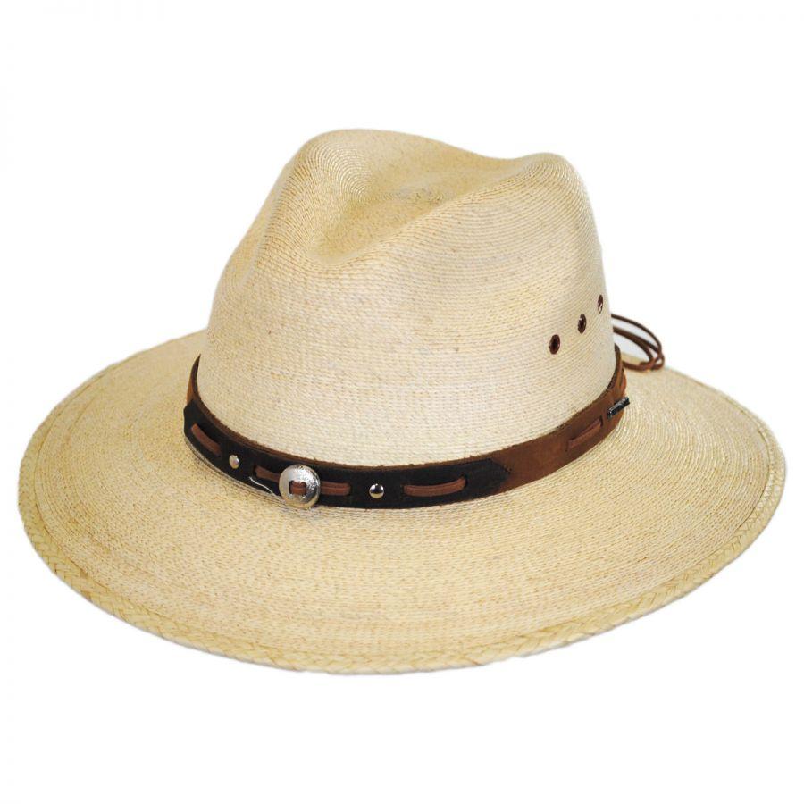 888f92e9864 Stetson Chambers Palm Leaf Straw Aussie Hat Straw Hats