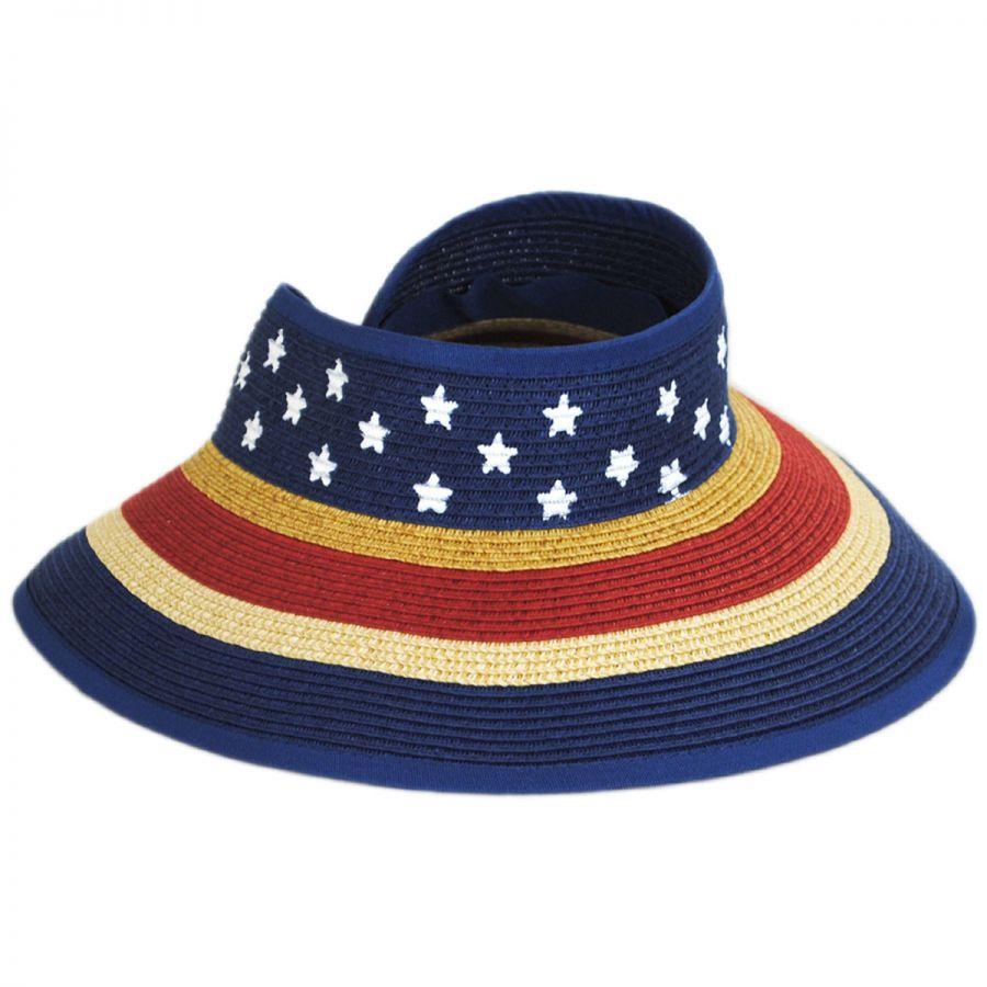 San Diego Hat Company Kids  Roll Up Toyo Straw Visor Boys 5a5ab12abd5