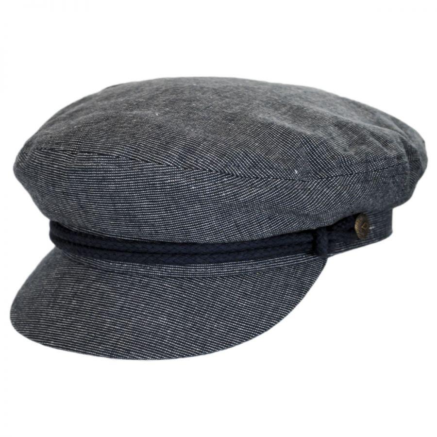 1dd676fd8f Brixton Hats Linen and Cotton Fiddler Cap Greek Fisherman Caps