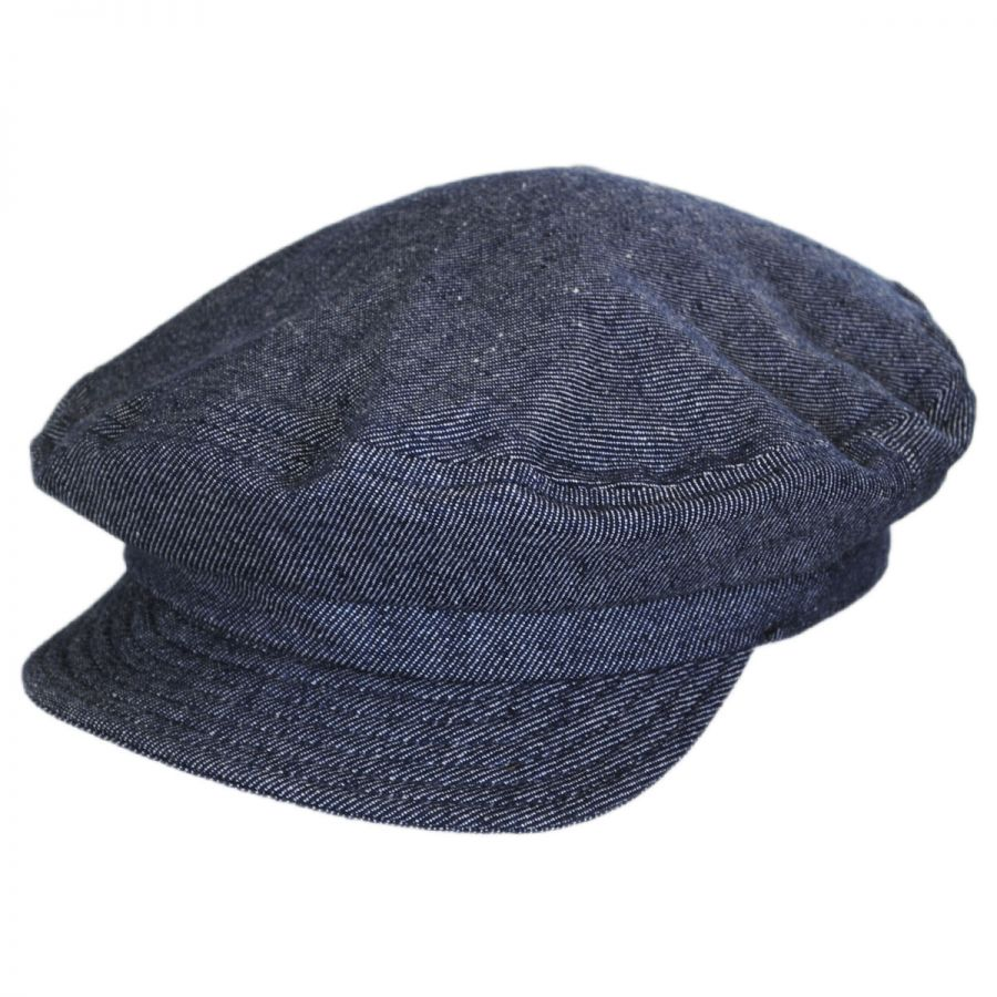 85f295bd04a Brixton Hats Unstructured Linen and Cotton Fiddler Cap Greek ...