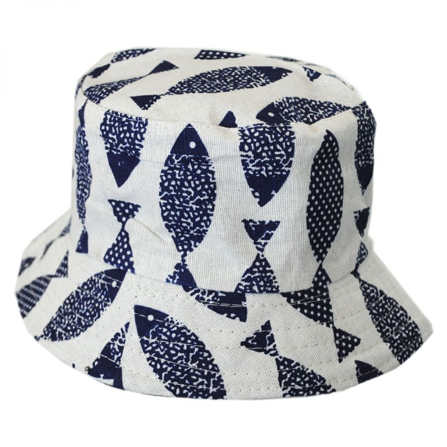 eade4166b45 Jeanne Simmons Toddlers  Fish Cotton Bucket Hat Boys