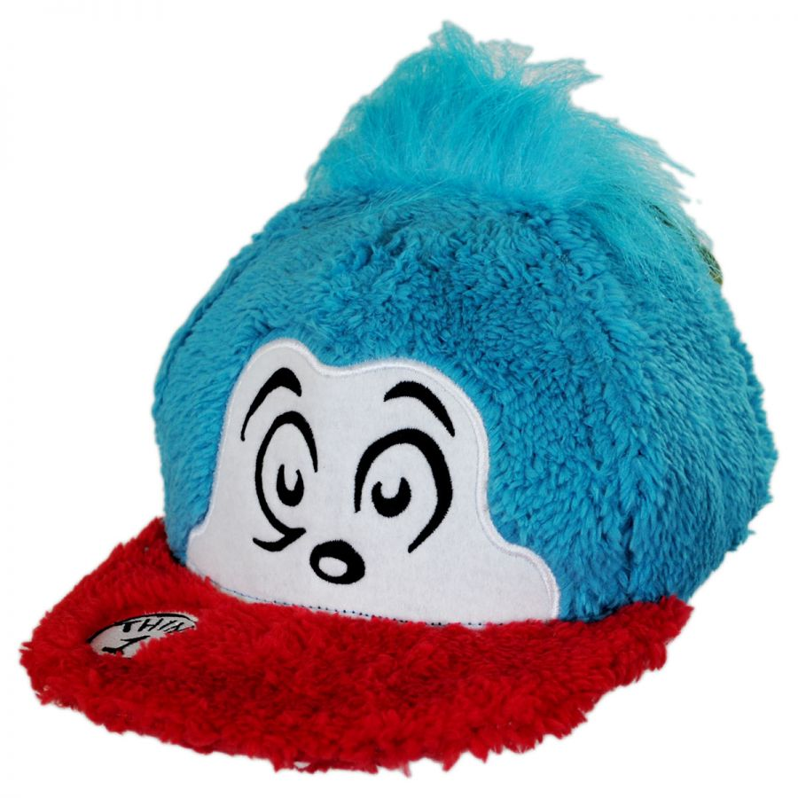 Dr. Seuss Thing 1 Fuzzy Baseball Cap Animation   Superheroes f509a931ced
