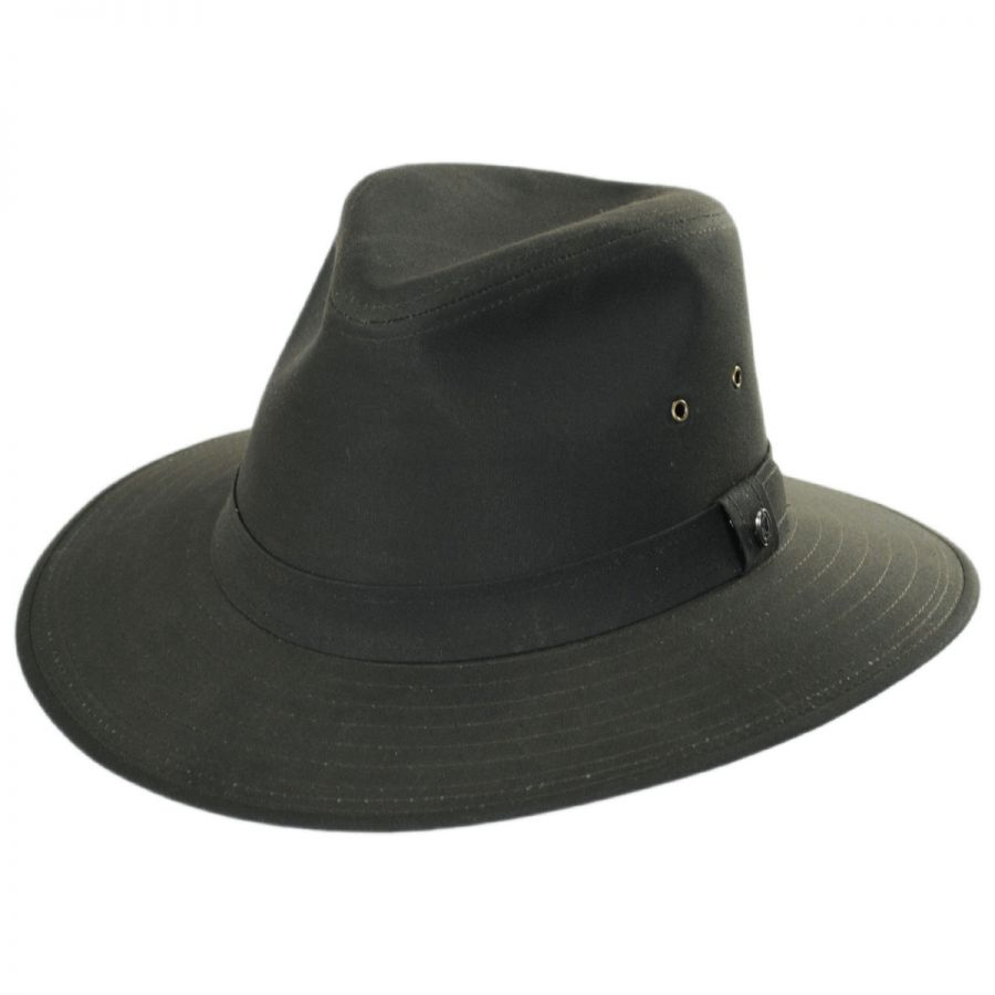 Jaxon Hats Cotton Oilcloth Safari Fedora Hat Fabric 32f987d3ede