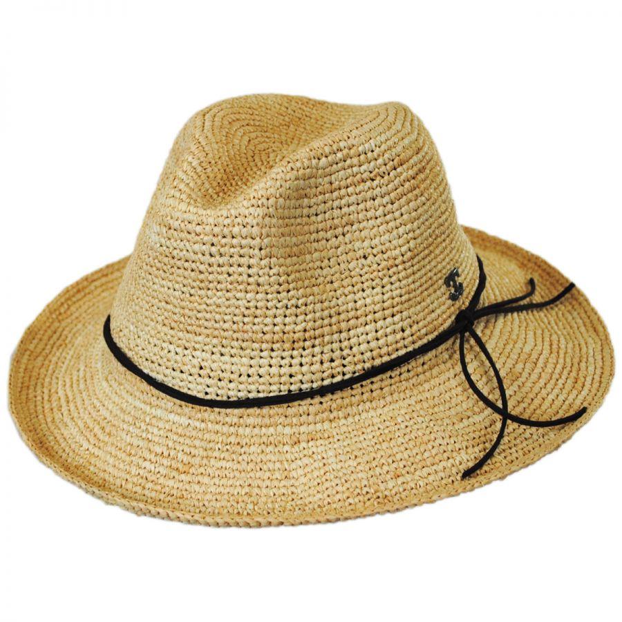 Callanan Hats Crochet Raffia Straw Safari Fedora Hat Fedoras ed10b727908f