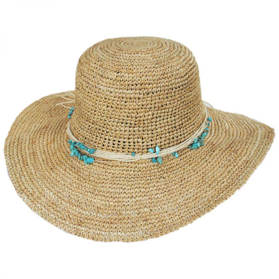 41732b5e Callanan Hats Turquoise Raffia Swinger Sun Hats