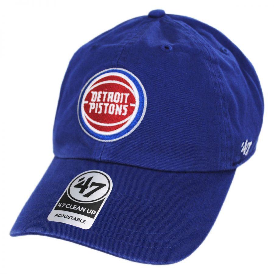 premium selection 6ea92 63eec ... sale 47 brand detroit pistons nba clean up strapback baseball cap dad  hat ii 5ce6b bfa24