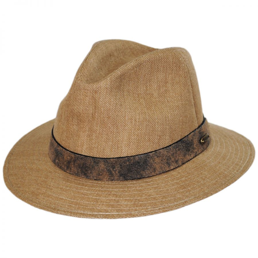 Stetson Weathered Canvas Safari Fedora Hat Fabric 658d33b96fe