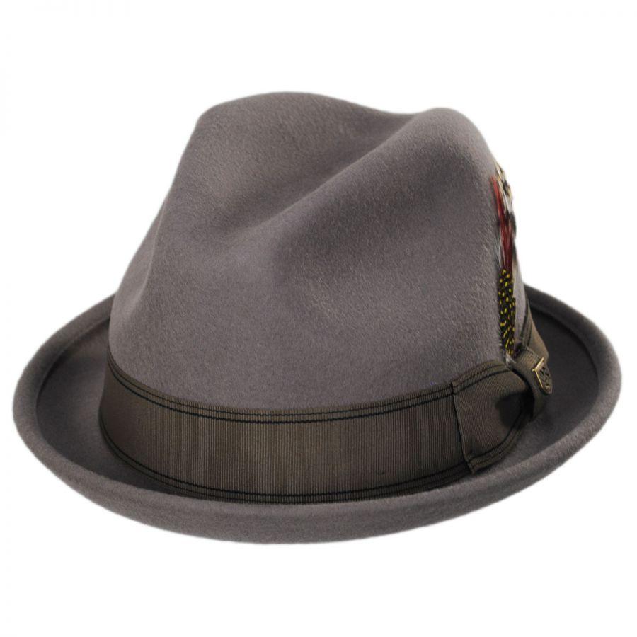 ... Brixton Hats Gain Wool Felt Fedora Hat Stingy Brim Trilby buy popular  f27ea 361b6  Dobbs Herrington Fur ... 4a79ffd8257