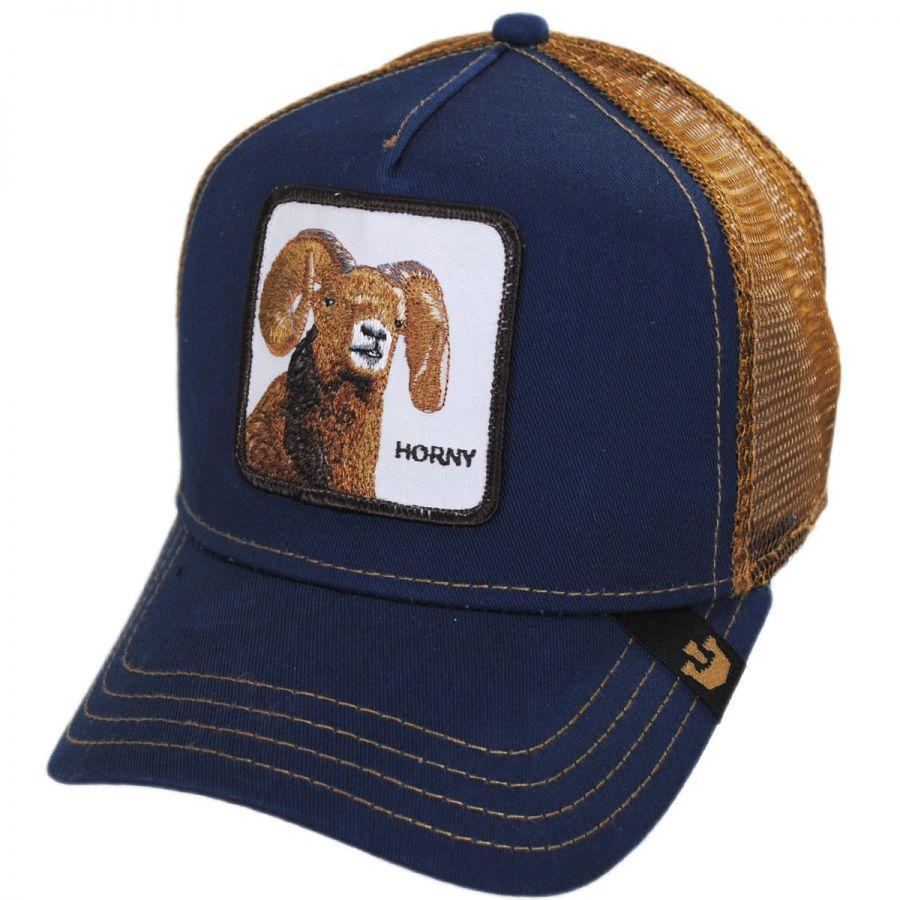 5ca33e6e1d1 Goorin Bros Big Horn Mesh Trucker Snapback Baseball Cap Snapback Hats