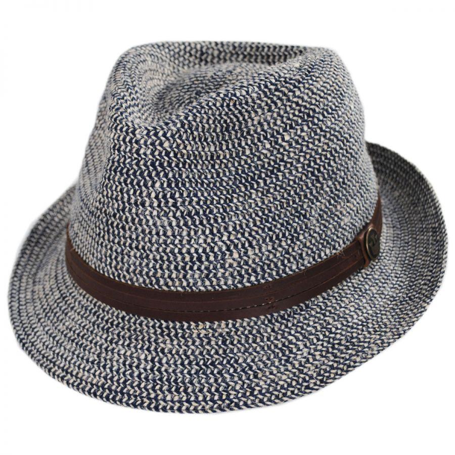 d73b6db1 Goorin Bros Laying Low Hemp and Cotton Fedora Hat Fabric